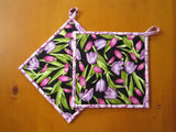 Tulips Pot Holders - Set of 2 Potholders