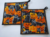 Halloween Pot Holders - Set of 2