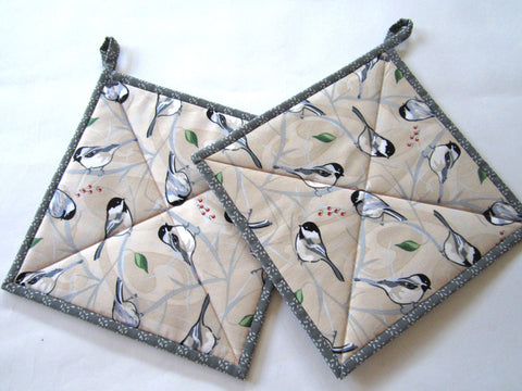 Pot Holders with Birds