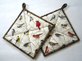 Pot Holders - Set of 2 with Birds