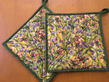 Field of Flowers Potholders Set of Two