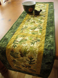 Handmade Quilted Table Runner Oak Leaves and Maple Leaves