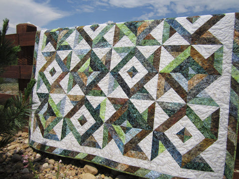 Batik Quilt in Earth Tone Colors