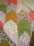 Modern Quilt with Chevron Arrow Design