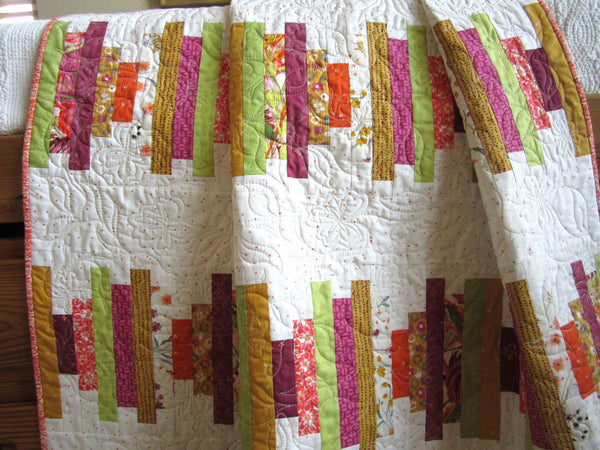 Modern Quilt Stacked Strips of Fabric