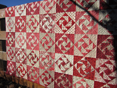 Red and Tan Traditional Quilt