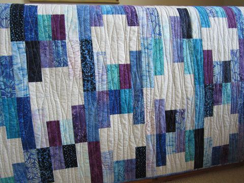 Handmade Quilt Batik for sale jewel tones