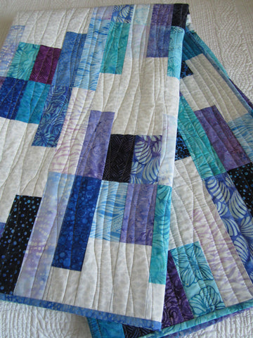Batik Quilt in Jewel Tones