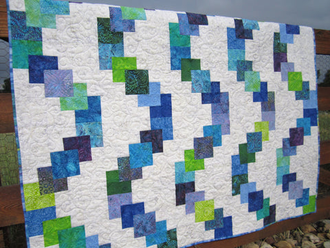 Blue Green Purple Quilt Batik