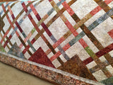 Handmade Quilt Batik in Lattice Design Home Decor
