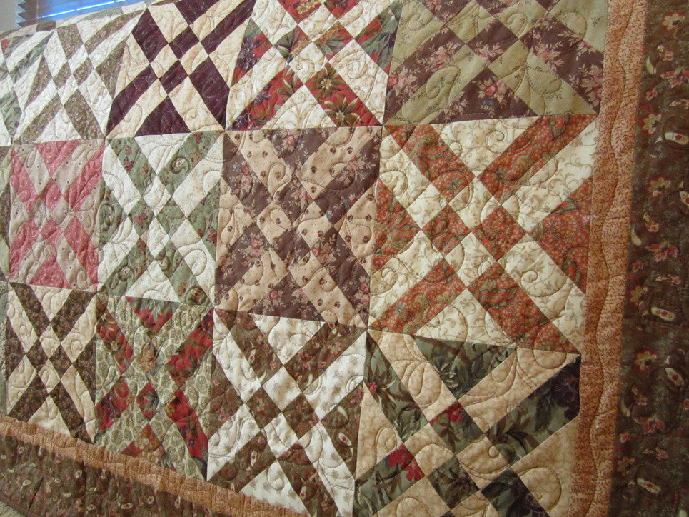 Traditional Patchwork Quilt Patchwork Mountain