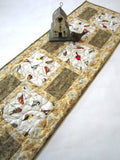 Birds in Nature Quilted Table Runner