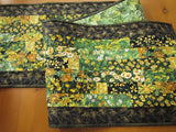 Quilted Table Runner with Yellow Flowers