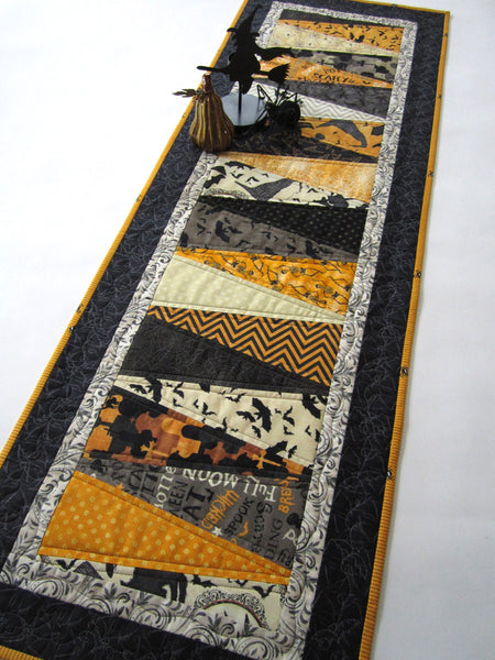 Halloween Quilted Table Runner Patchwork Mountain