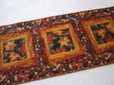 Quilted Table Runner with Maple Leaves for Fall