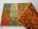 Batik Table Runner for Fall
