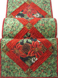 Christmas Table Runner with Poinsettias