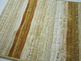 Christmas Table Runner in Shades of Gold and Cream