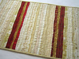 Christmas Table Runner in Cream, Red and Gold