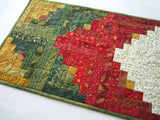 Christmas Table Runner using Gold, Green and Red