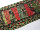 Christmas Table Runner with Modern Wedge Design