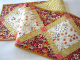 Floral Quilted Table Runner