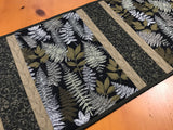 Table Runner Fern leaves Hamade Quilted Gift