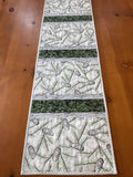 Winter Pine Cones and Sprigs with Silver Quilted Table Runner