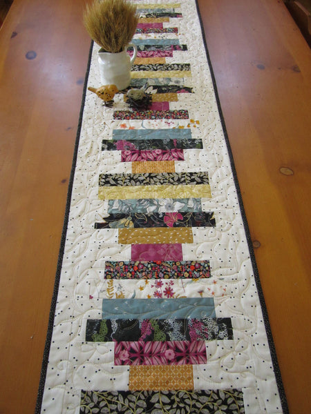 Quilted Table Runner with Stripes