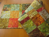 Autumn Colors Batik Table Runner