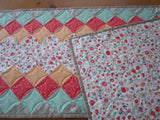 Quilted Table Runner with Floral Center