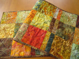 CUSTOM ORDER Fall Colors Batik Table Runner