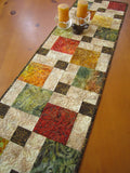 Fall Colors Batik Table Runner