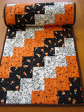 Halloween Table Runner with Candy Corn, Stars and Spiders