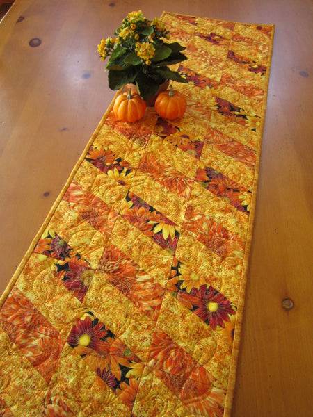 Fall Floral Quilted Table Runner