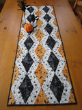 Halloween Table Runner with Spiders and Bats