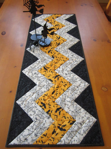 Halloween Table Runner in Chevron Design