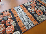 Halloween Table Runner with Pumpkins and Spiders