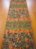 Fall Table Runner with Maple Leaves and Pine Cones