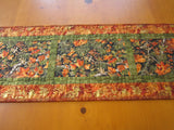 Fall Quilted Table Runner with Maple Leaves