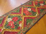 Christmas Table Runner with Poinsettias Holiday Decor