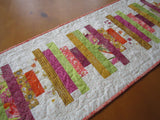 Modern Table Runner in Stacked Strips in Gorgeous Colors