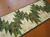 Table Runner with Pine Cones and Holly