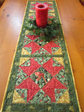 Christmas Table Runner with Birds and Holly