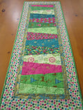 Christmas Table Runner Modern Pink Green Turquoise