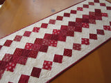 Red Quilted Table Runner