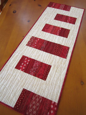 Modern Red Table Runner
