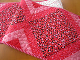 Red Pink Hearts Table Runner
