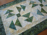 Batik Table Runner in Flying Geese Design
