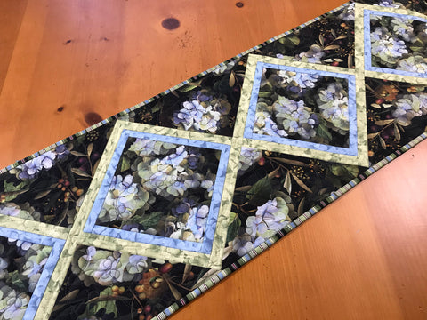 CUSTOM ORDER Hydrangea Table Runner